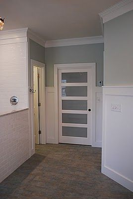 I like this frosted bathroom pocket door so much more for Home depot frosted glass door