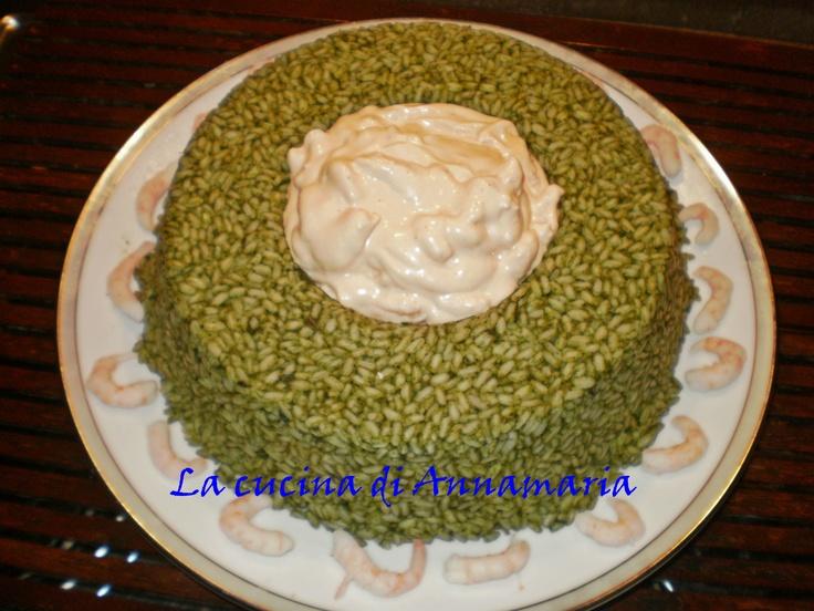 Corona di riso verde estivo