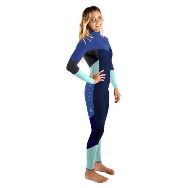 Combinaison surf Rip Curl Womens FlashBomb Chest Zip 4/3 2017 - Navy