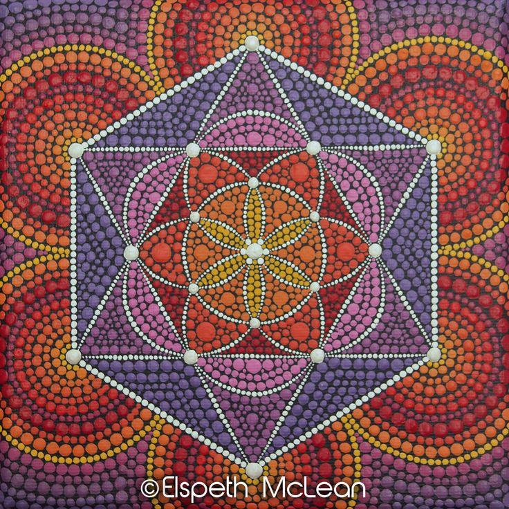 Sacred Geometry Mandala by Elspeth McLean  #mandala #sacredgeometry #star #floweroflife #seedoflife #elspethmclean