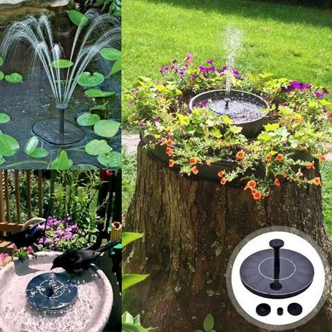 Solar Powered Easy BIRD FOUNTAIN KIT Is A Great Choose To Attract The Birds  To Bring Your Garden Vitality.