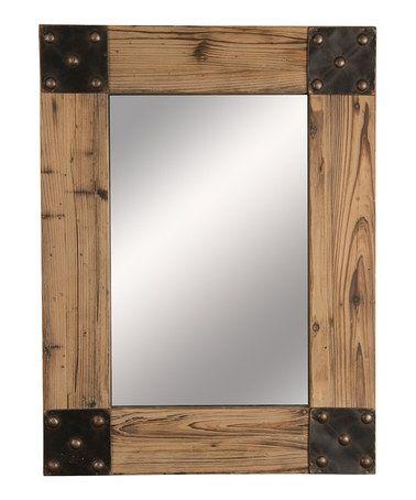 Look at this #zulilyfind! Rustic Mirror #zulilyfinds