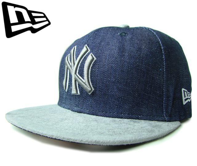 """【ニューエラ】【NEW ERA】9FIFTY USカスタム 激レア! NEW YORK YANKEES """"NY"""" デニム&スエードXシルバー アジャスタブルキャップ 【CAP】【newera】【帽子】【ニューヨーク・ヤンキース】【スナップバック】【snapback】【snap back】【あす楽】【楽天市場】"""