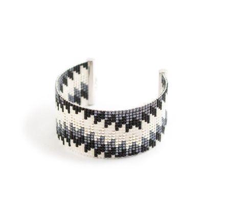 Machette Aina, bracelet tissé à la main en perles miyuki / bead woven bracelet with Japan beads  ------DESCRIPTION------  Longueur du bracelet : entre 13 et 14 cm de tissage  - 19047489