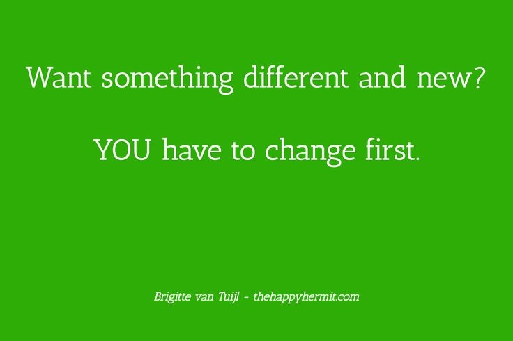 Yes, of course you know that you have to change before your circumstances can change. But are you acting upon that? If not, here's a peptalk for you!