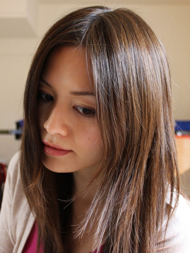Asian hair colour streaks images