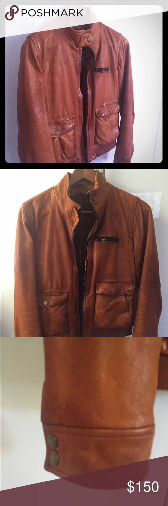 Leather Bomber Jacket Leather bomber jacket. Like new! GAP Jackets & Coats