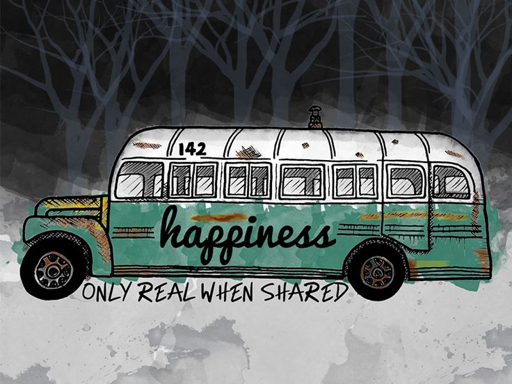 Into the wild. Magic Bus by Laura Sala - Dribbble