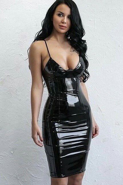 Tight latex and leather lingerie shall
