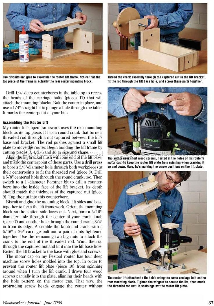 #1910 Workbench Router Table Plans - Router