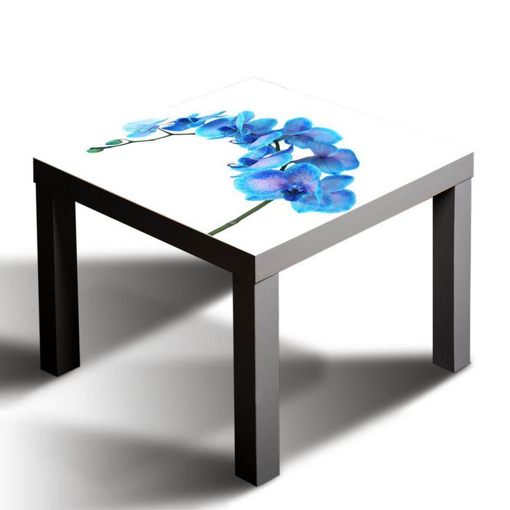 Epic Details zu Gsmarkt Glasbild Glasplatte f r IKEA Lack Tisch x Blume Natur Blau