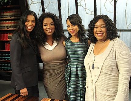 Judy Smith, Oprah, Kerry Washington, Shonda Rhimes, &  On 'Oprah's Next Chapter- Scandal