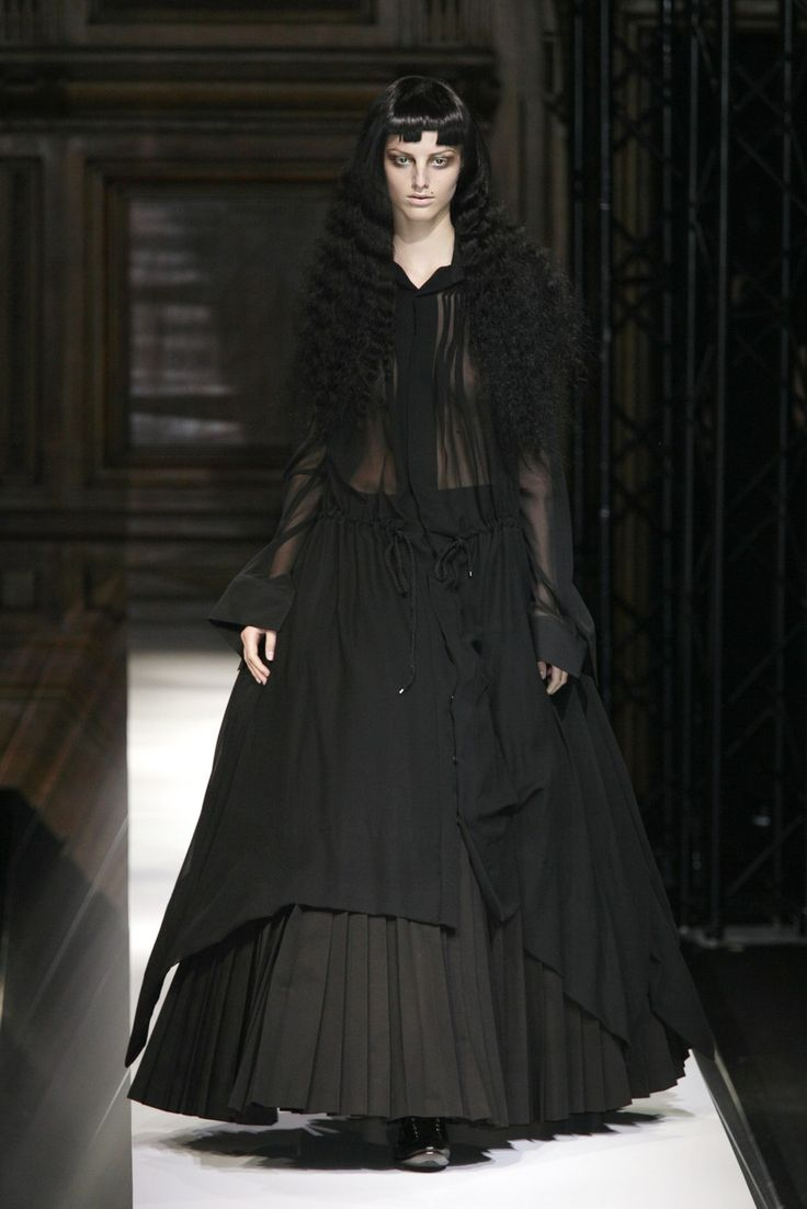 13 Best Pictures Images On Pinterest Fashion Editorials High Kim Angelica Chocker Hole Dress Broken White Yohji Yamamoto At Paris Week Spring 2007