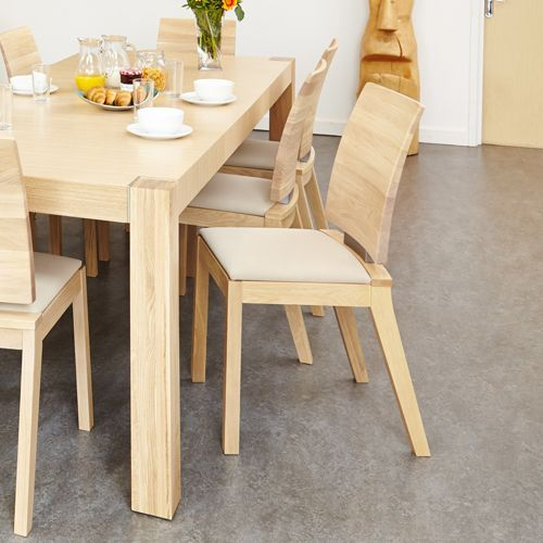 Olten Uno - Ivory Dining Chair in Light Oak Finish Pack Of Two #oak #wood #furniture #home #interior #decor #interiorinspiration #livingroom #diningroom #kitchen #lounge #house #dining #chair #table