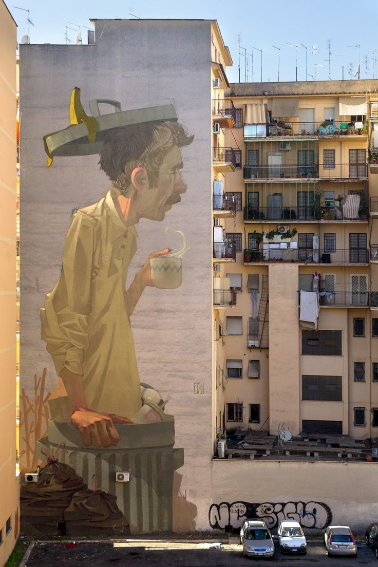 Wees geduldig wall sticker fun walls - Etam Cru Seeks To Bring Attention To Bleak Situation In Italy