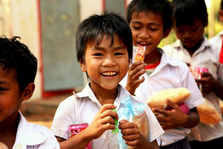 Joyful with candy #VietnamSchoolTours #student #candy #gift