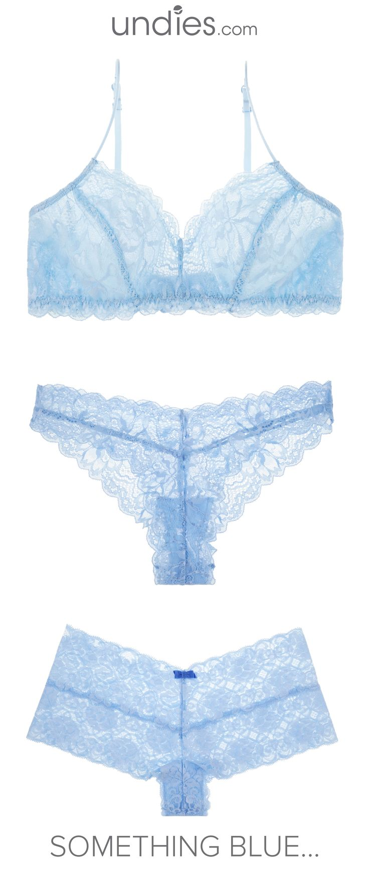 Luxe lace looks for your perfect day. The best gift for bride or bridal shower. Available in more than 15 colors and deliver in a cute gifting box. Free shipping in the US. Discover more at: undies.com