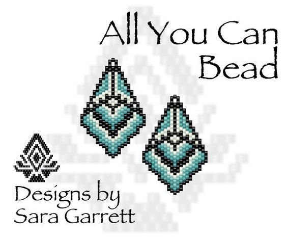 PATTERN ONLY. Create these beautiful peyote earrings. Delica Beads. Odd count with 4 bead colors. 21 bead columns by 25 bead rows. 1.11 wide by 1.75 long. Pattern includes a pattern preview, full bead legend, colored bead graph, complete word graph. Note: I choose the color palette