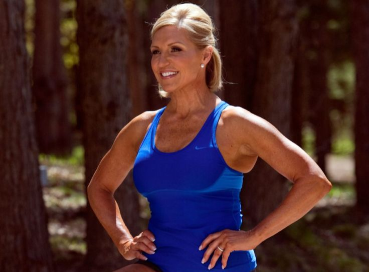 Tosca Reno, seen at her Caledon home in this file photo, does a 30-minute muscle workout 4 or 5 times a week.