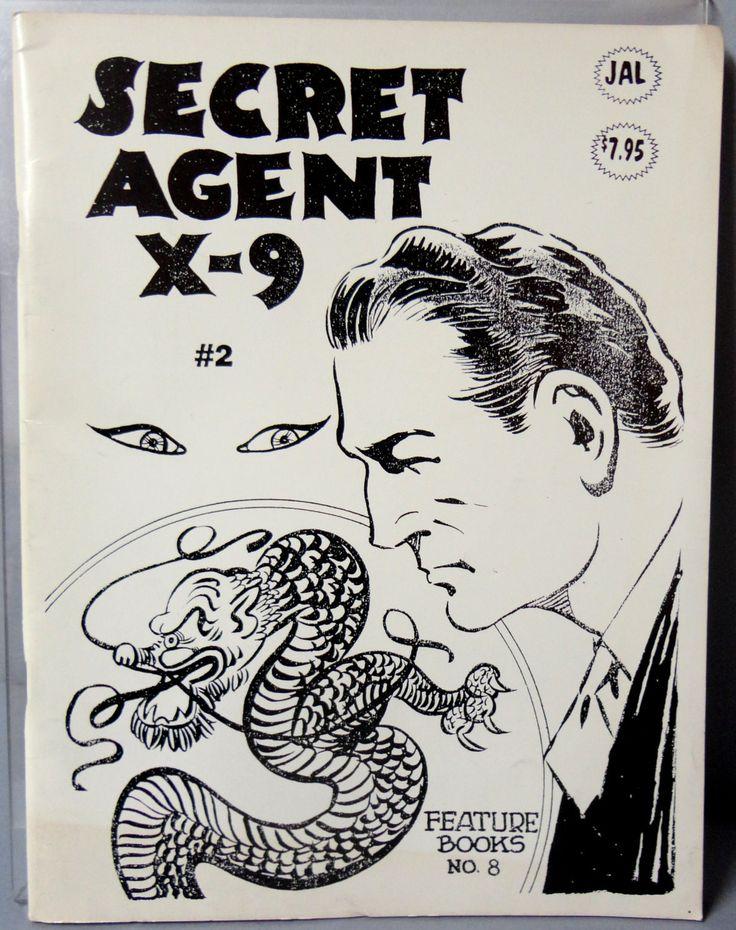 SECRET AGENT X-9 #2 Leslie Charteris Charles Flanders 1936-37 B & W Dailies Hard Boiled Detective Noir paperback fanzine J A L