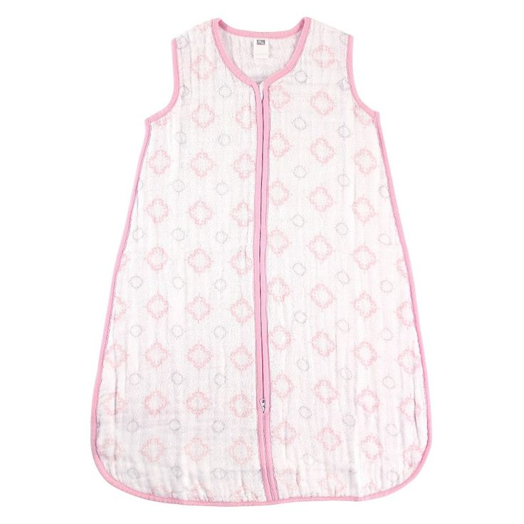 Hudson Baby Muslin Sleeping Bag - Pink Damask, Infant Girl's, Size: 6-12 Months