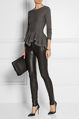 New Black Genuine Leather Leggings Trouser Skinny Pants Size 2-16 Women 2-16 in Clothing, Shoes & Accessories, Women's Clothing, Pants   eBay