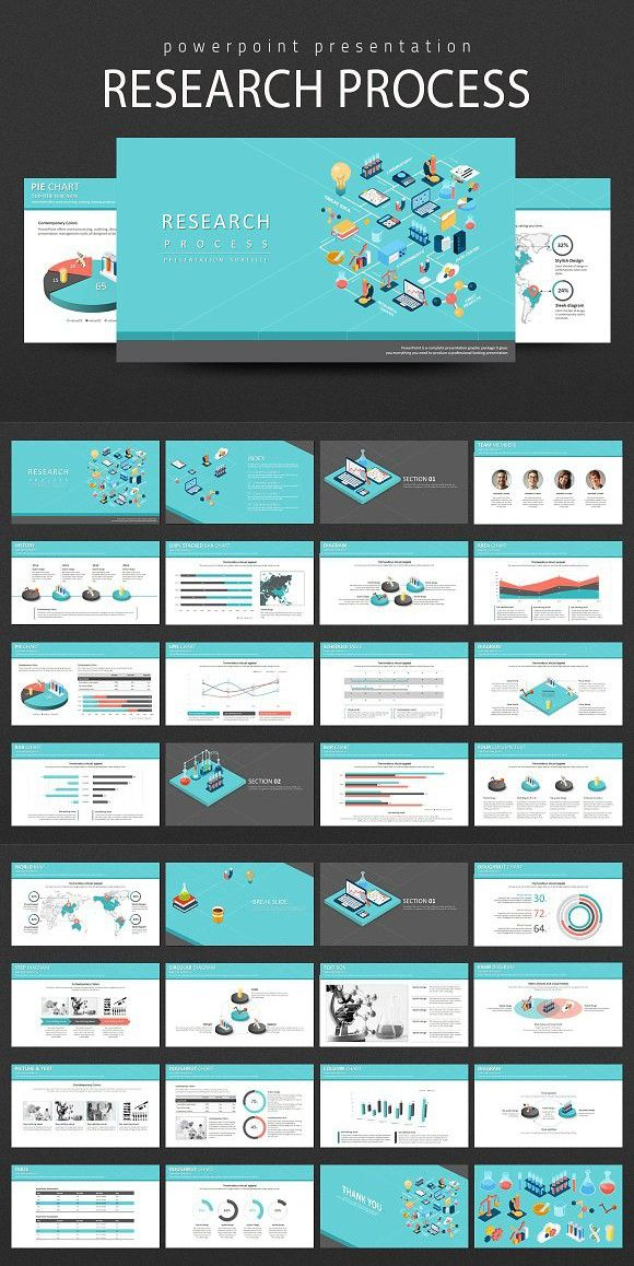 Research Process PPT. Presentation Templates