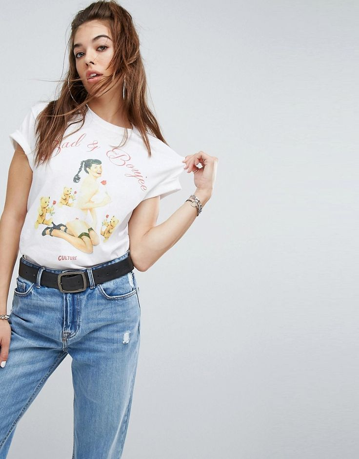 Migos Oversized T-Shirt With Bad & Boujee Print - White