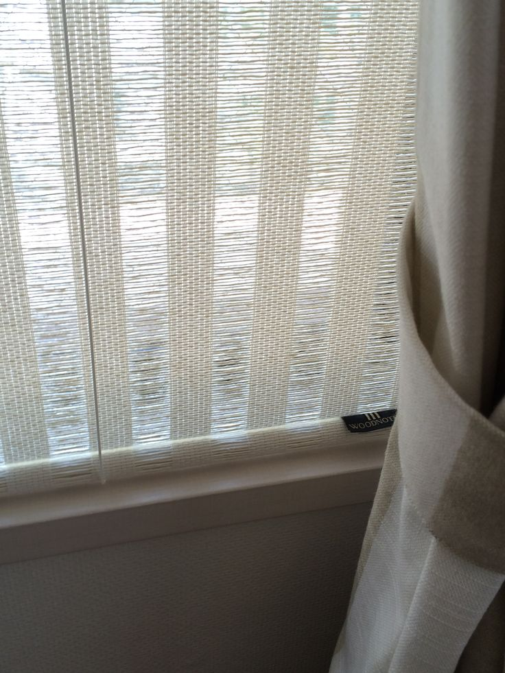Woodnotes Open Sky white paper yarn cotton fabric classic roller blind.