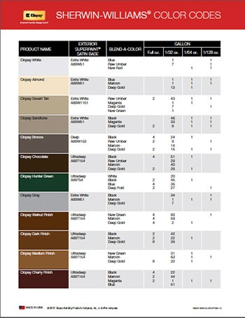 Did You Know That Sherwin Williams Offers Paint Colors To Match Your Clopay  Garage Door