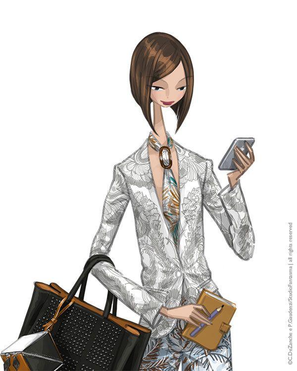 Vogue Japan 7/2013 - horoscope 2013, scorpio - Hermès s/s 2013 (jacket, trousers, tie) + Fendi s/s 2013 (bag)) - by studiofantasma.com