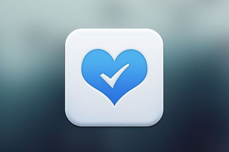 mobile blue white ios app icon design