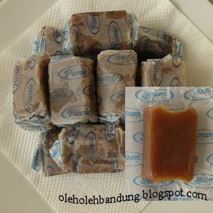 Dodol Garut, a kind of sweet snack made from sticky rie flour from Garut, West Java
