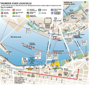 Thunder Over Louisville Map Thunder Day Information