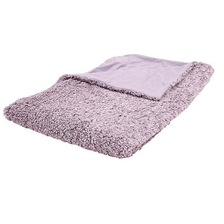 SYNTHETIC FUR THROW IN PURPLE COLOR 150X180 - Furs - FABRIC ITEMS