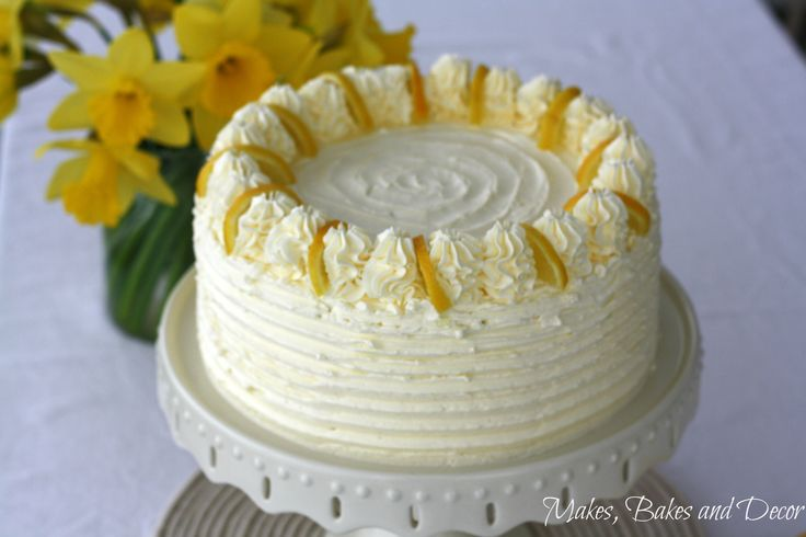 A cake recipe. Lemon drizzle layer cake is a delicious cake with lemon drizzle cake layers and a swiss meringue buttercream.