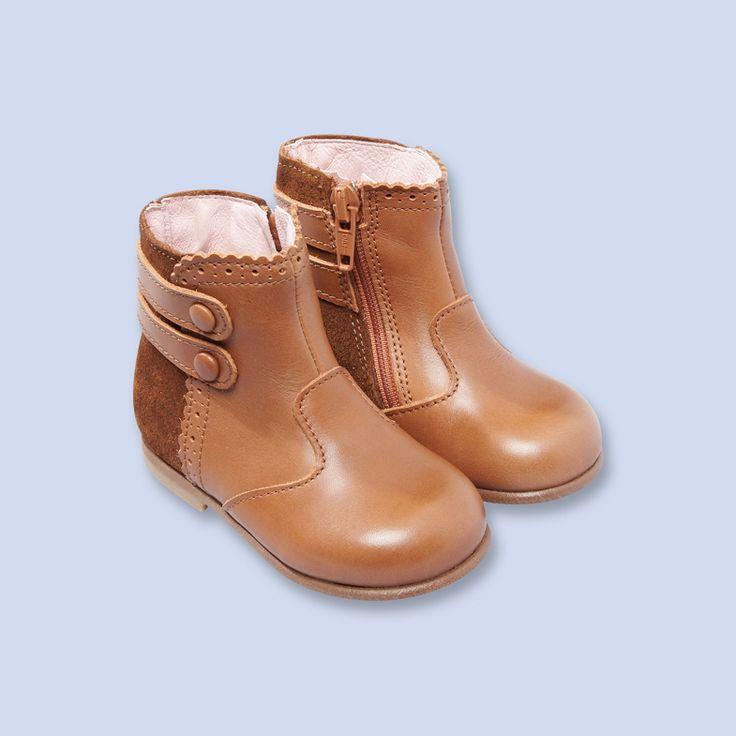 Boots en cuir lisse