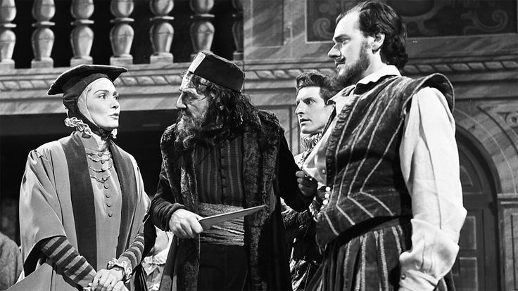 Merchant of Venice  BBC 1955 with Michael Horden, Raymond Westwell, Denis Quilley and Rachel Gurney.