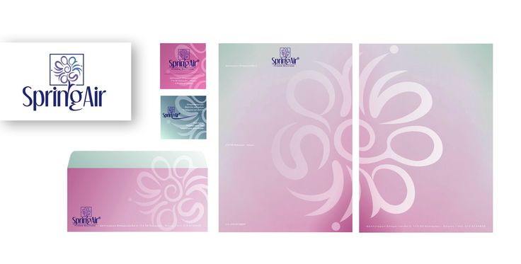 "by Argiro Stavrakou Year 2004, Logo+ID for the ""Spring Air"" company (Hygiene, Deodorizing, Air Fresheners)"