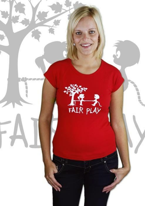 Fair Play Damen T-Shirt    http://www.bastard-shop.de/damen-t-shirts/fair-play-rotes-damen-t-shirt-247/
