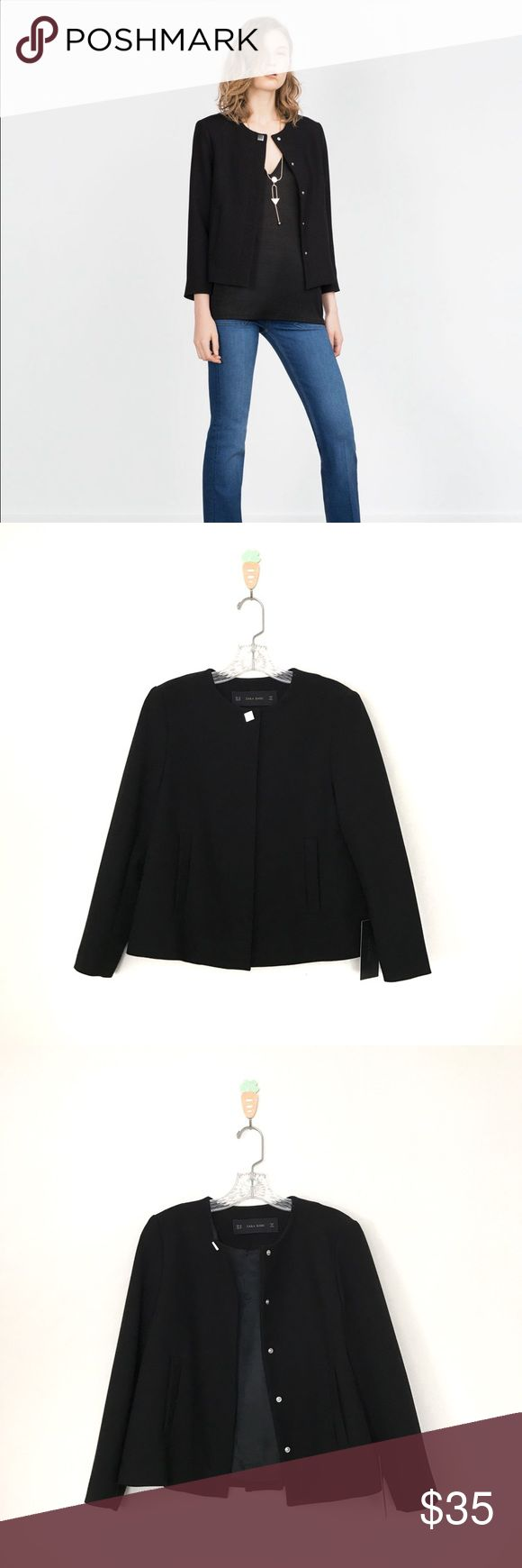 Zara crepe blazer XS brand new with tag Zara Jackets & Coats Blazers