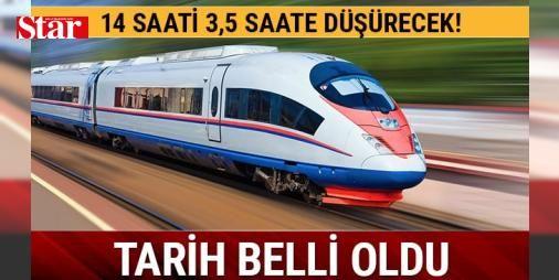 Ankara-İzmir arası yüksek hızlı trenle 14 saatlik süre 3,5 saate inecek: Ankara ile İzmir arasındaki tren yolcuğunu 14 saatten 3.5 saate düşürecek olan ve temeli 2012 yılında atılan İzmir-Ankara Yüksek Hızlı Tren (YHT) Projesi'nde çalışmaların devam ediyor.   2019 SONUNDA TAMAMLANACAK   İzmir-Ankara Yüksek Hızlı Tren (YHT) Projesi'nde gelinen son nokta ile ilgili bilgi veren AK Parti İzmir Milletvekili Mahmut Atilla Kaya,  İzmir-Ankara mevcut demiryolu 824 kilometre olup, seyahat süresi ise…