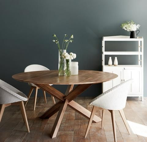 Teak Round Dining Table | Sits 4 to 6