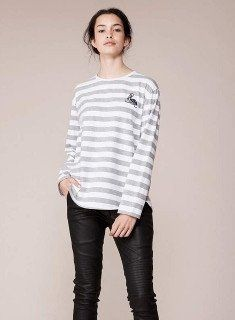 'Pelican Point' Long Sleeve Top #size-14 #size12