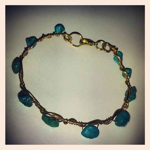 selfmade turquoise bracelet