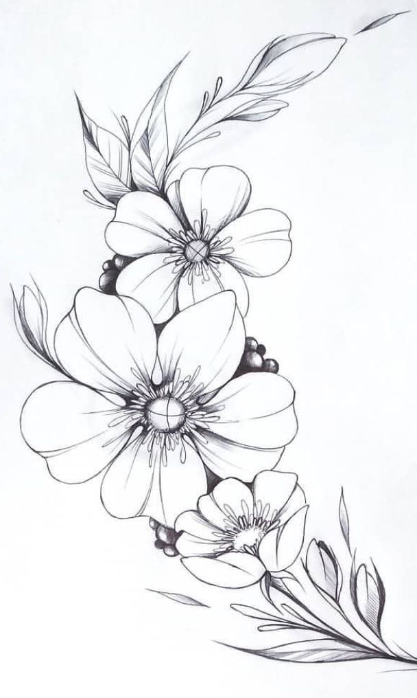 inscription florale # tatouages   – Flower Tattoo Designs