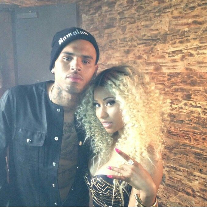 On set of Love More video with Chris Brown