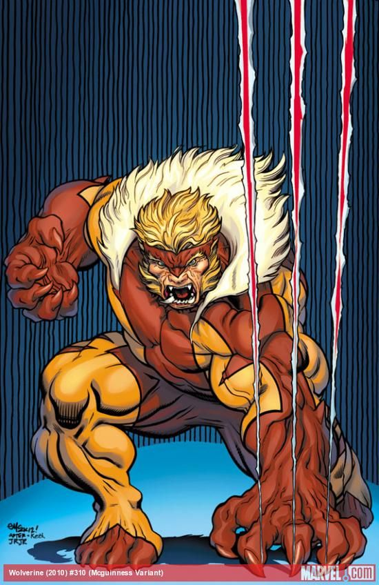 Sabertooth by Ed McGuinness This is Wolverine's brother. See any resemblances? LOL!