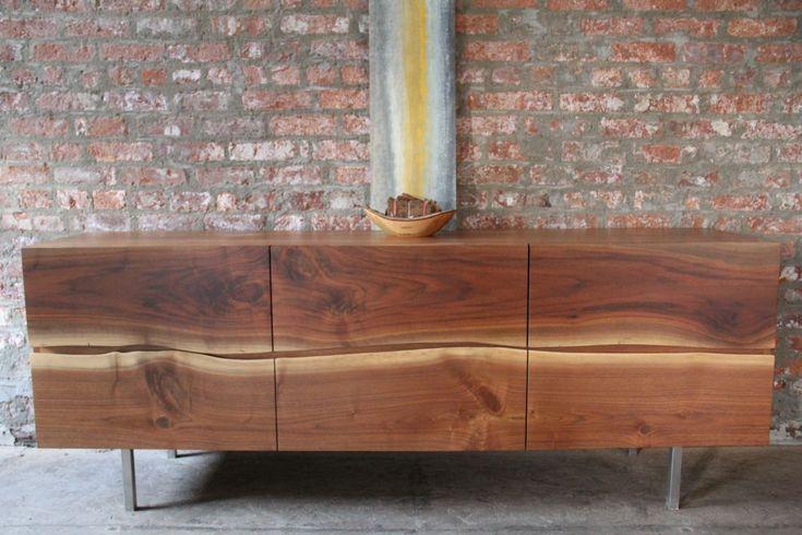 Live edge walnut low dresser (