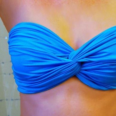 Malibu Blue Twist Bandeau Top